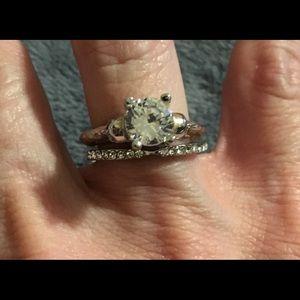 Jewelry - New CZ 2 Piece Sterling Silver 925 Size 7